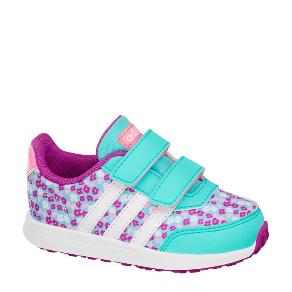 63c2db0fbf0 adidas Switch 2 sneakers met bloemen, Paars/lichtblauw/lichtroze/wit