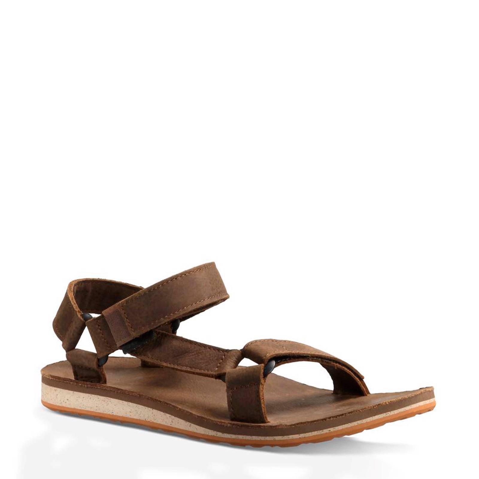 teva sandalen leer