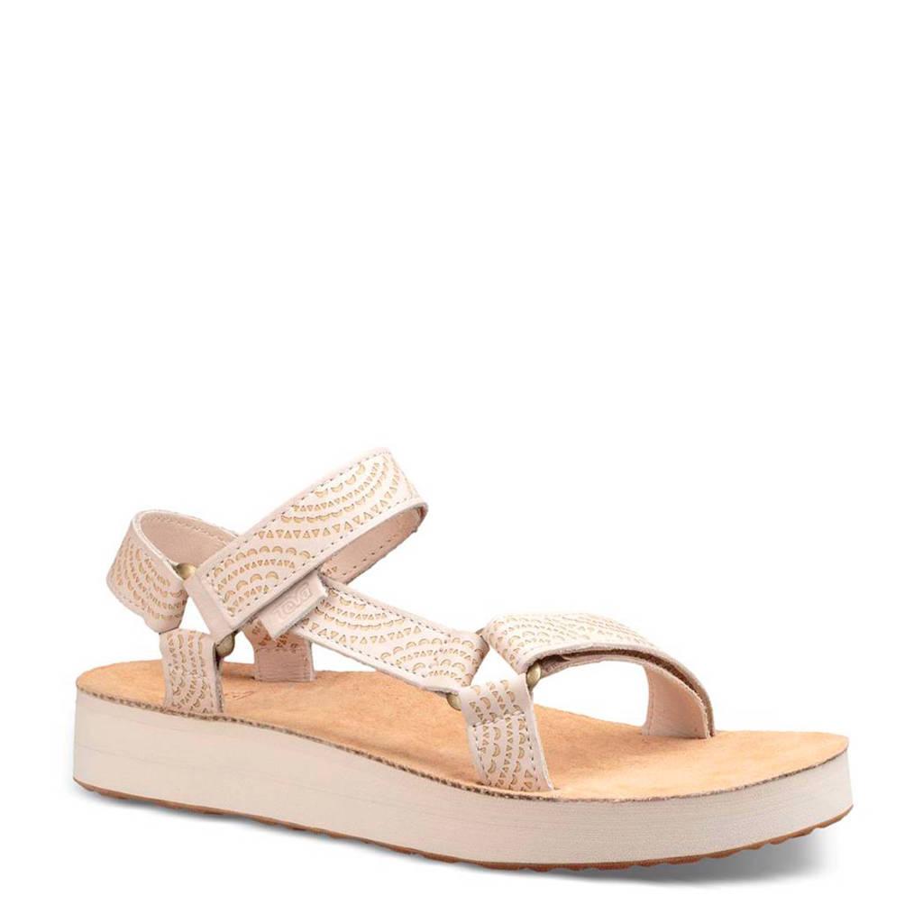 Teva Midform Universal Geometric leren outdoor sandalen beige, Beige