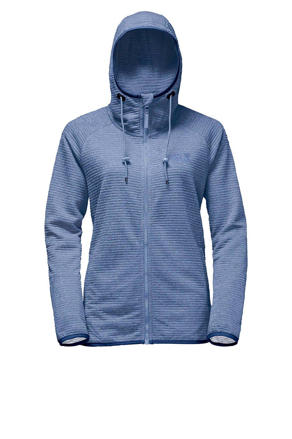 Jack Wolfskin Tongari Hooded fleece vest, Blauw