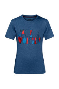 Jack Wolfskin   Brand outdoor T-shirt, Blauw
