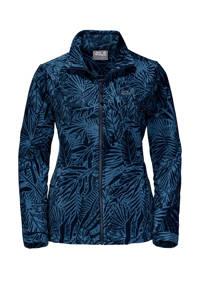 Jack Wolfskin fleece fleece vest met all over print blauw, Blauw