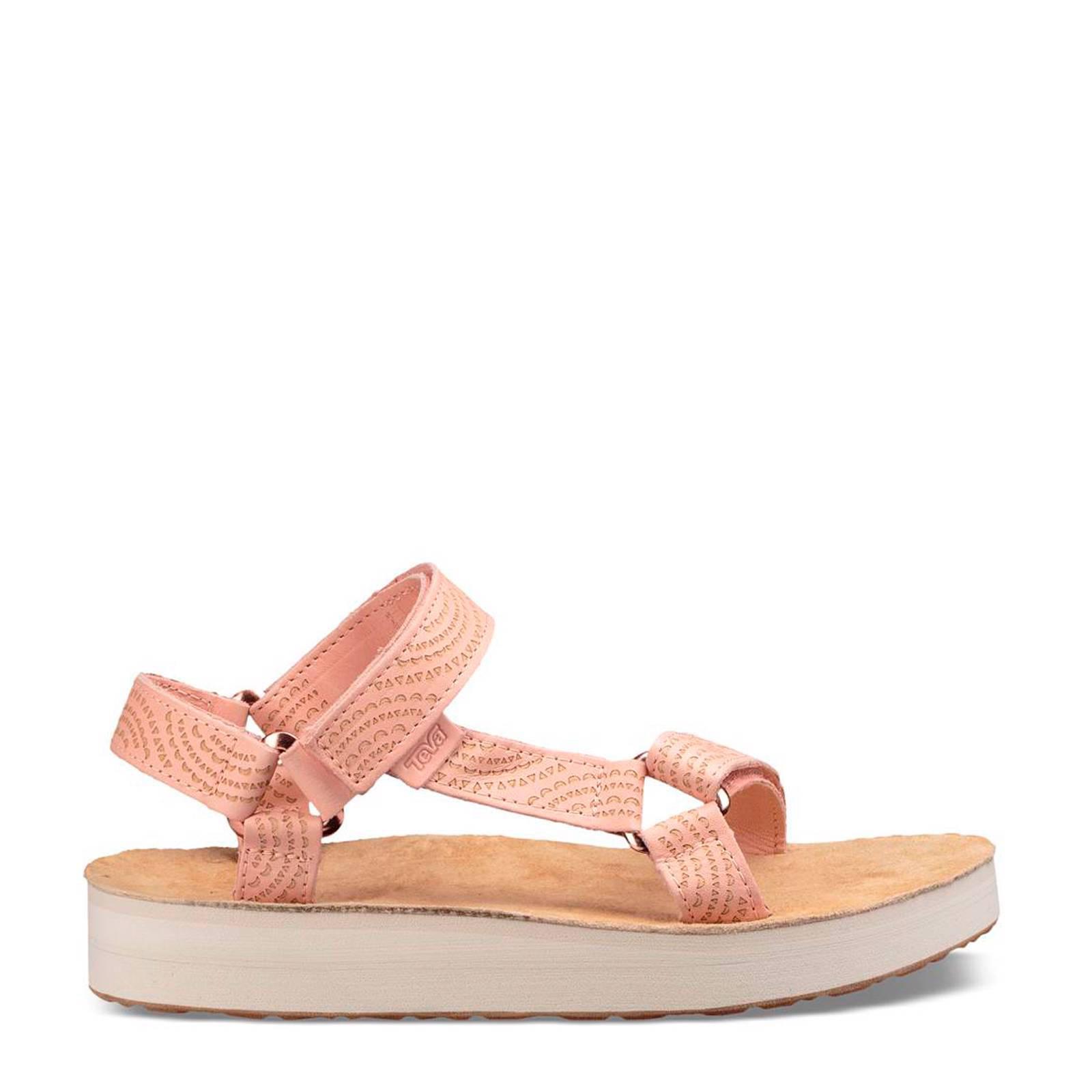 Midform Universal Geometric leren outdoor sandalen lichtroze