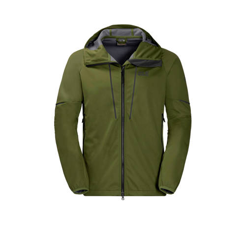 Jack Wolfskin Green Valley softshell jack olijfgro