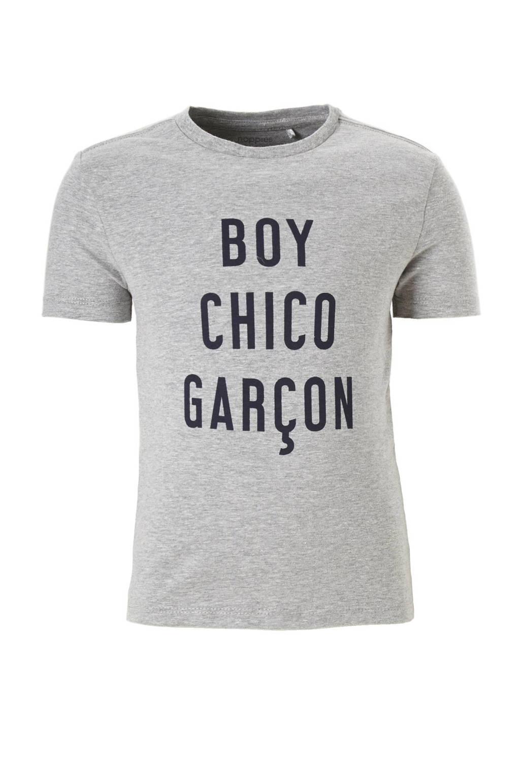Noppies T-shirt Nocera, Grijs melange / donkerblauw