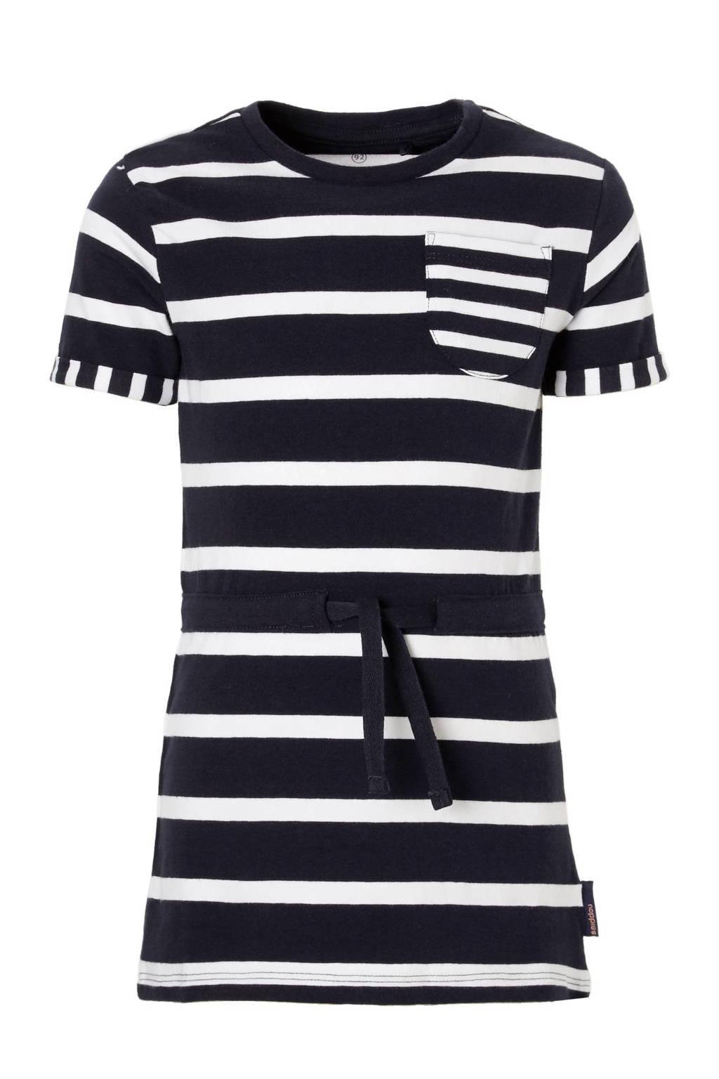 Noppies jurk, Donkerblauw / Wit