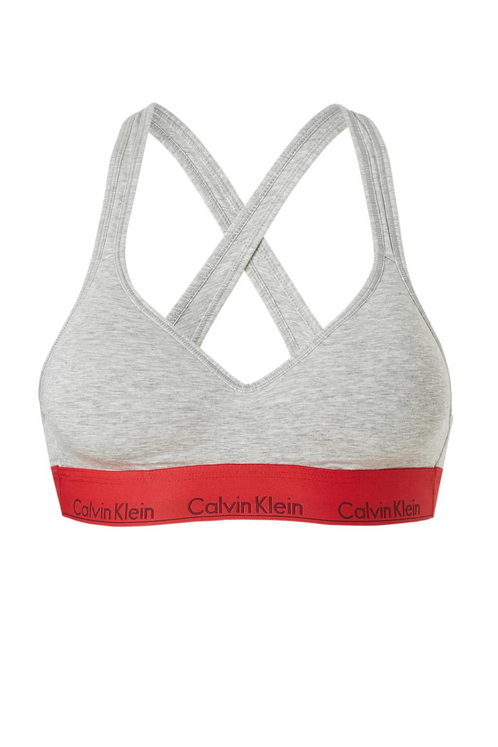Calvin Klein Underwear bralette, Grijs / Rood