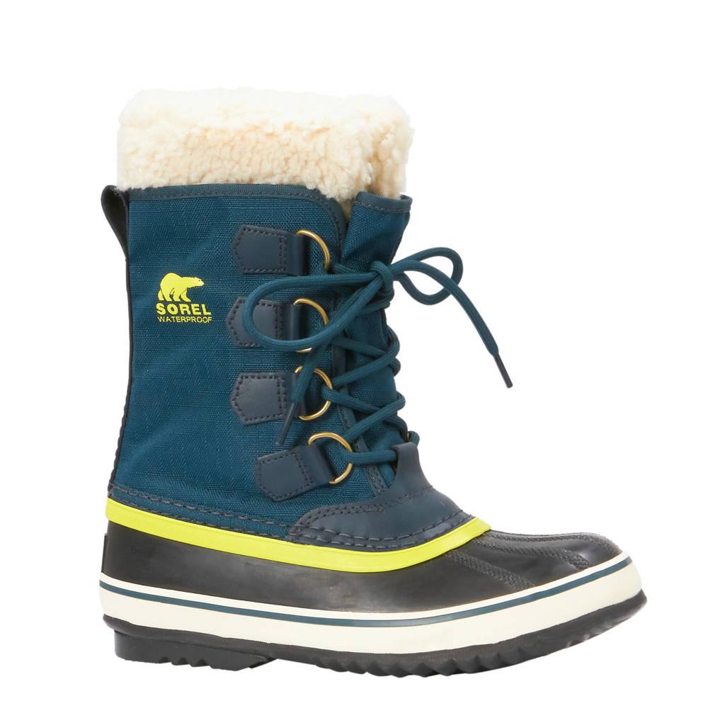 Sorel Winter Carnival snowboots, Groen/geel