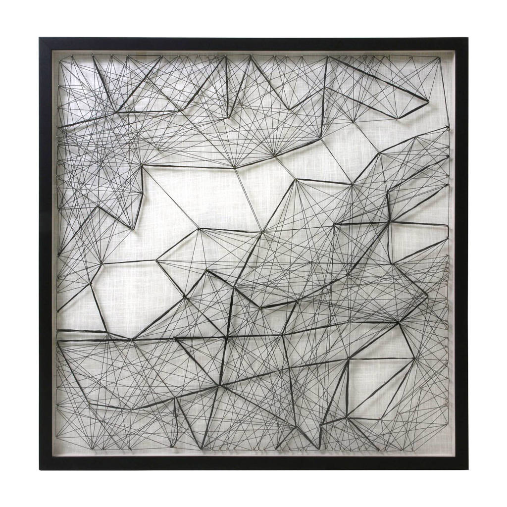 HKliving wanddecoratie (90x90 cm), Zwart/wit
