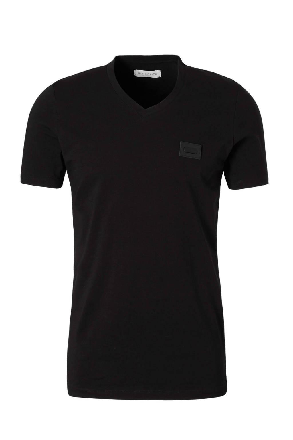 Purewhite regular fit T-shirt, Zwart