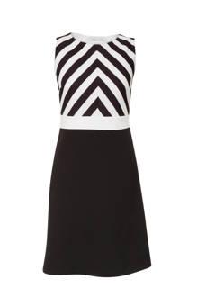 jurk met strepen zwart