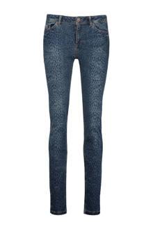 Dakota skinny fit jeans met luipaardprint