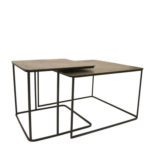 HKliving metalen salontafel (set van 2)