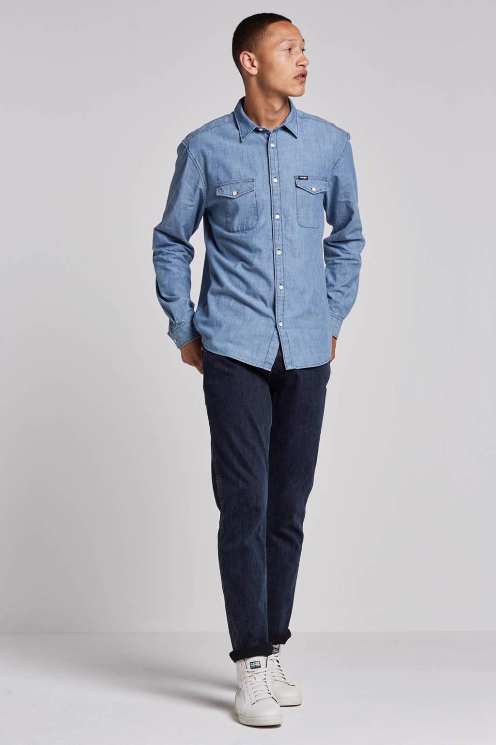 Wrangler overhemd, Mid indigo