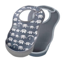 Bibetta slab grijs olifant - set van 2, Olifant/grijs