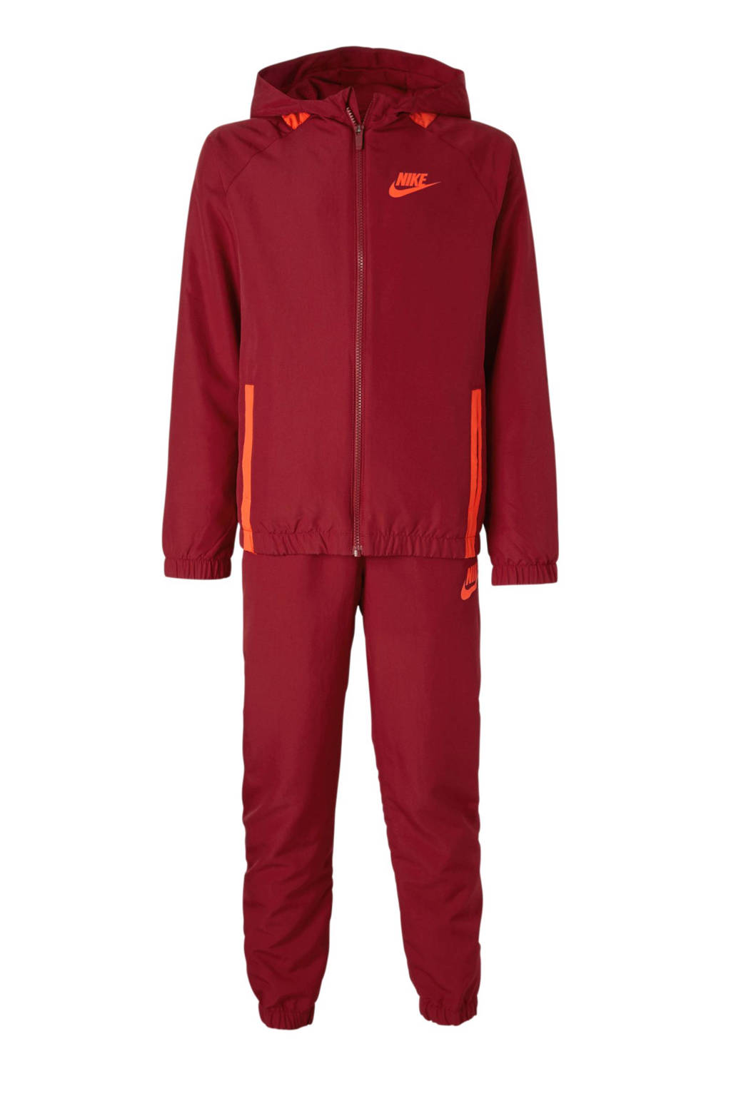 Nike   trainingspak donkerrood, Donkerrood