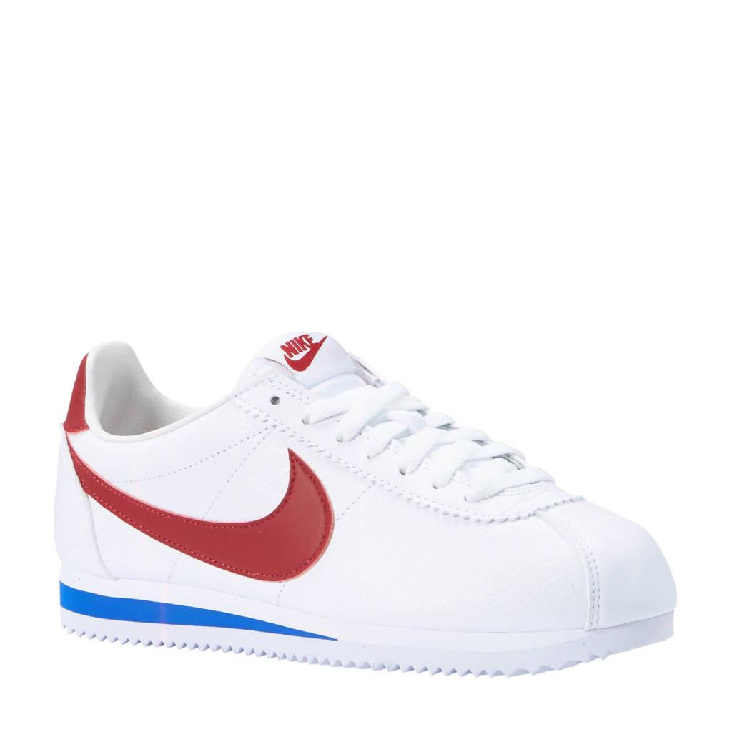 Nike  Classic Cortex leren sneakers, Wit/rood/blauw