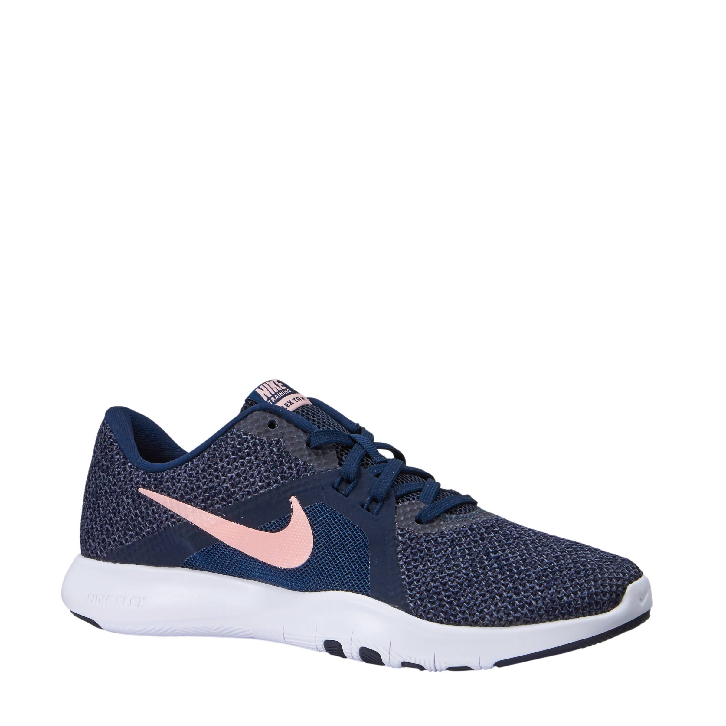 Donkerblauwroze schoenen Flex fitness Trainer 8 Nike 1qZ6X