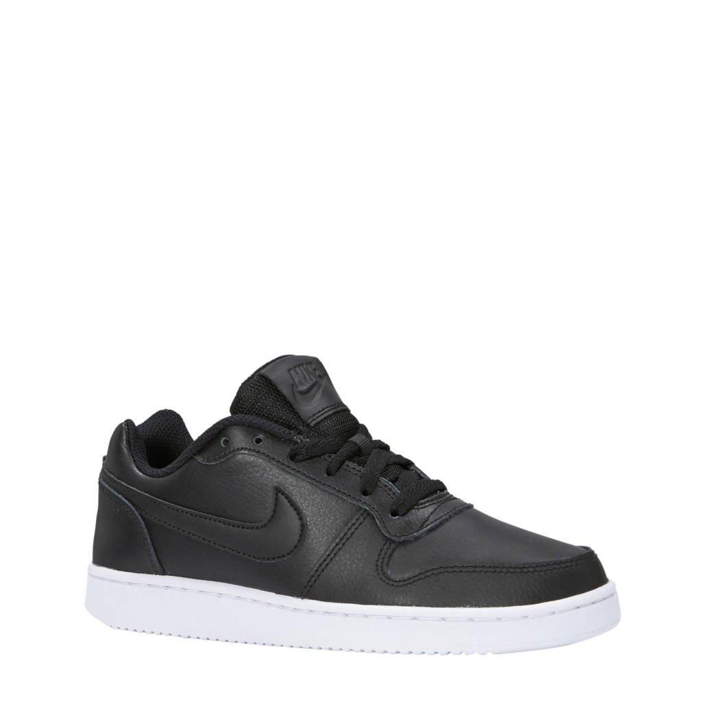 Nike  Ebernon Low leren sneakers, Zwart