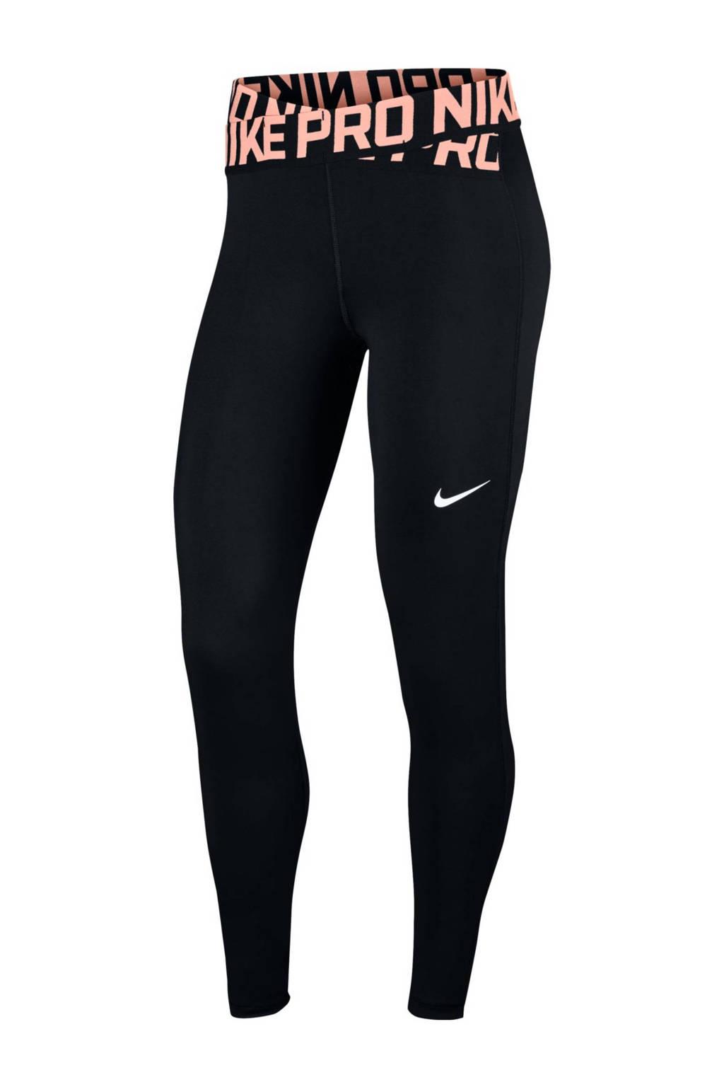 eb56788cf00 Nike 7/8 sportlegging, Zwart/lichtroze