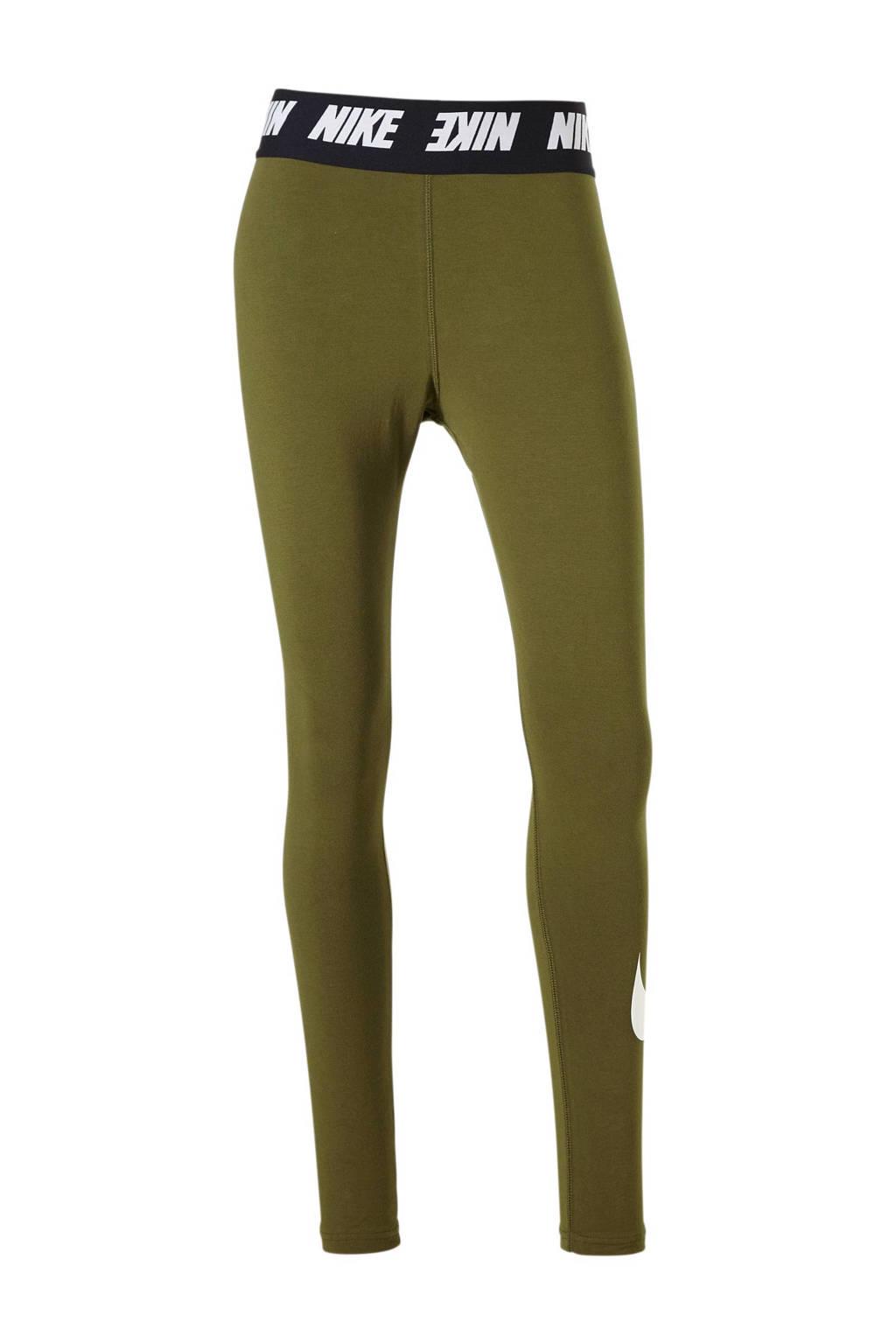 Nike 7/8 sportbroek olijfgroen, Olijfgroen