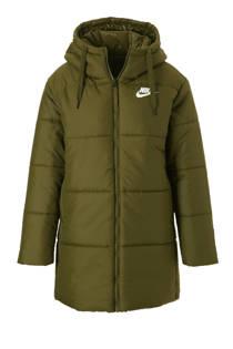 Nike omkeerbare halflange jas groen (dames)