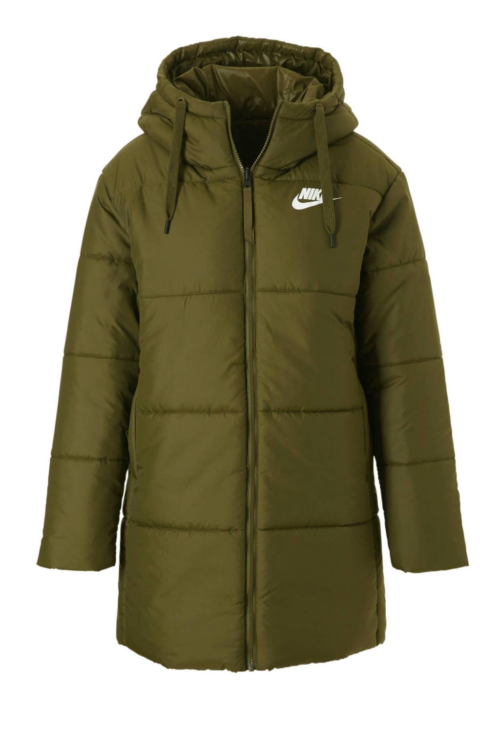 Halflange Winterjas.Nike Omkeerbare Halflange Jas Groen Wehkamp