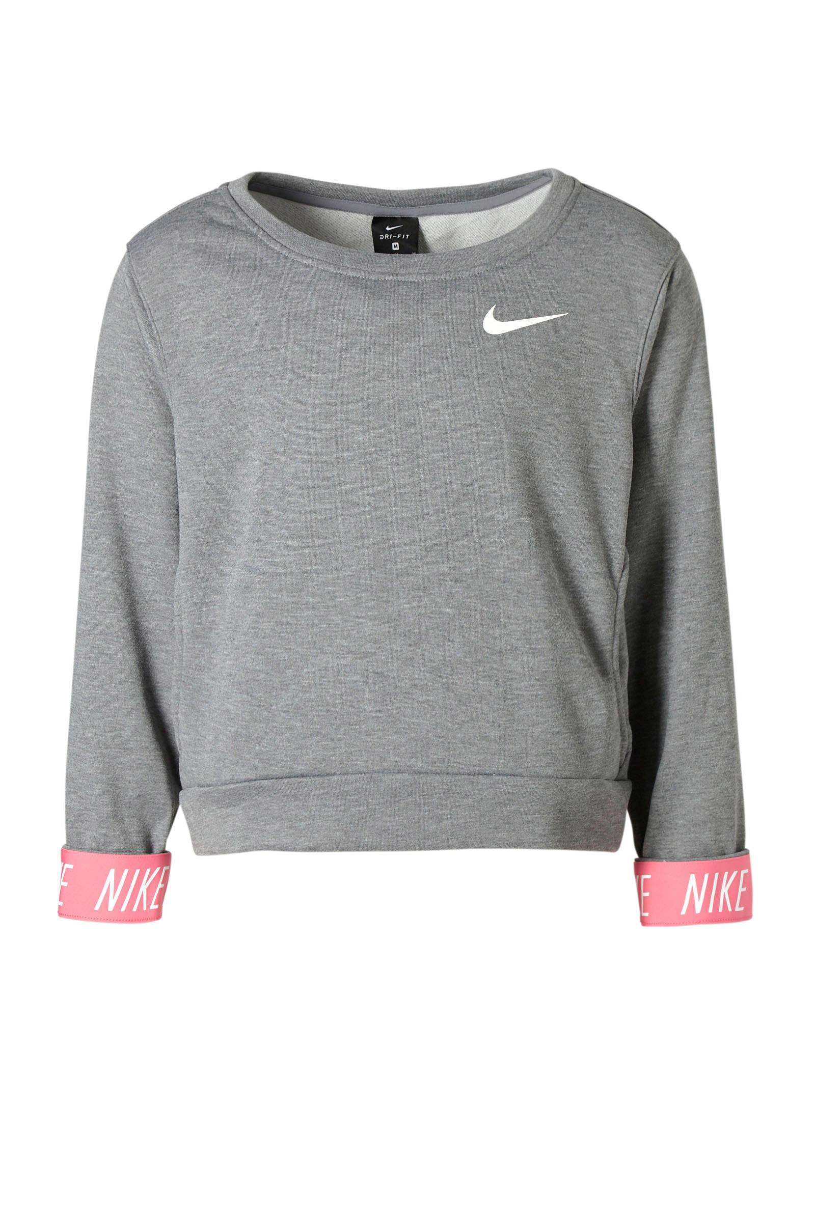 2fb680d8114 Nike sweater grijs   wehkamp