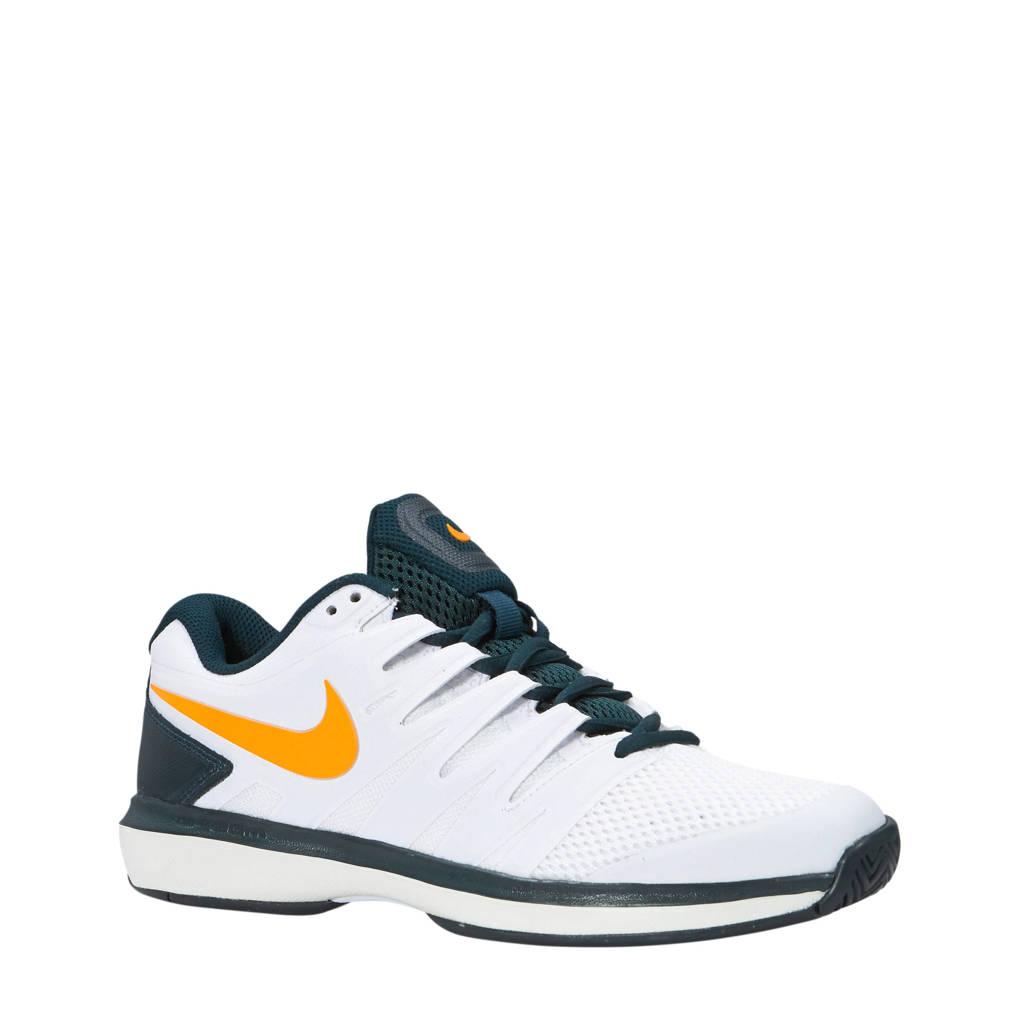 dd016e6ff5a Nike Air Zoom Prestige HC tennisschoenen wit/groen, Wit/groen