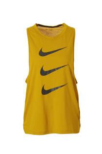 Nike hardlooptop okergeel (dames)