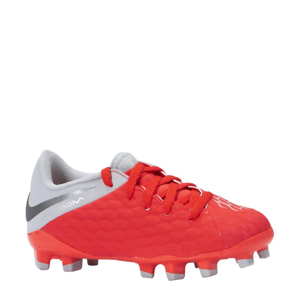 Nike Phantom 3 Pro DF FG voetbalschoenen rood/grijs, Rood/grijs