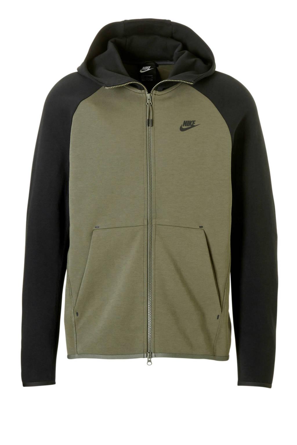 Nike Tech Fleece vest, Groen/zwart