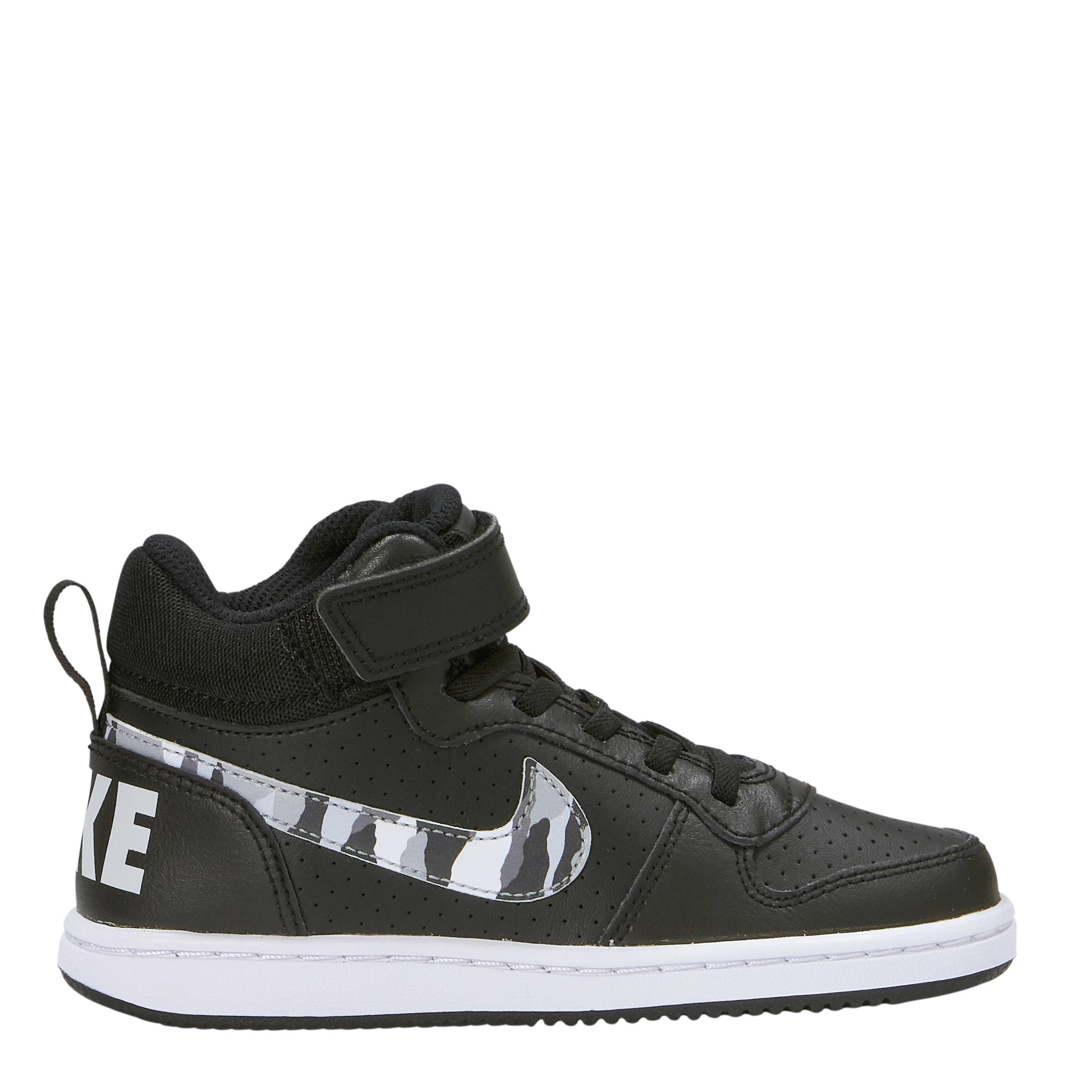 new product 47d69 30963 Nike Court Borough Mid (PSV) sneakers zwart   wehkamp