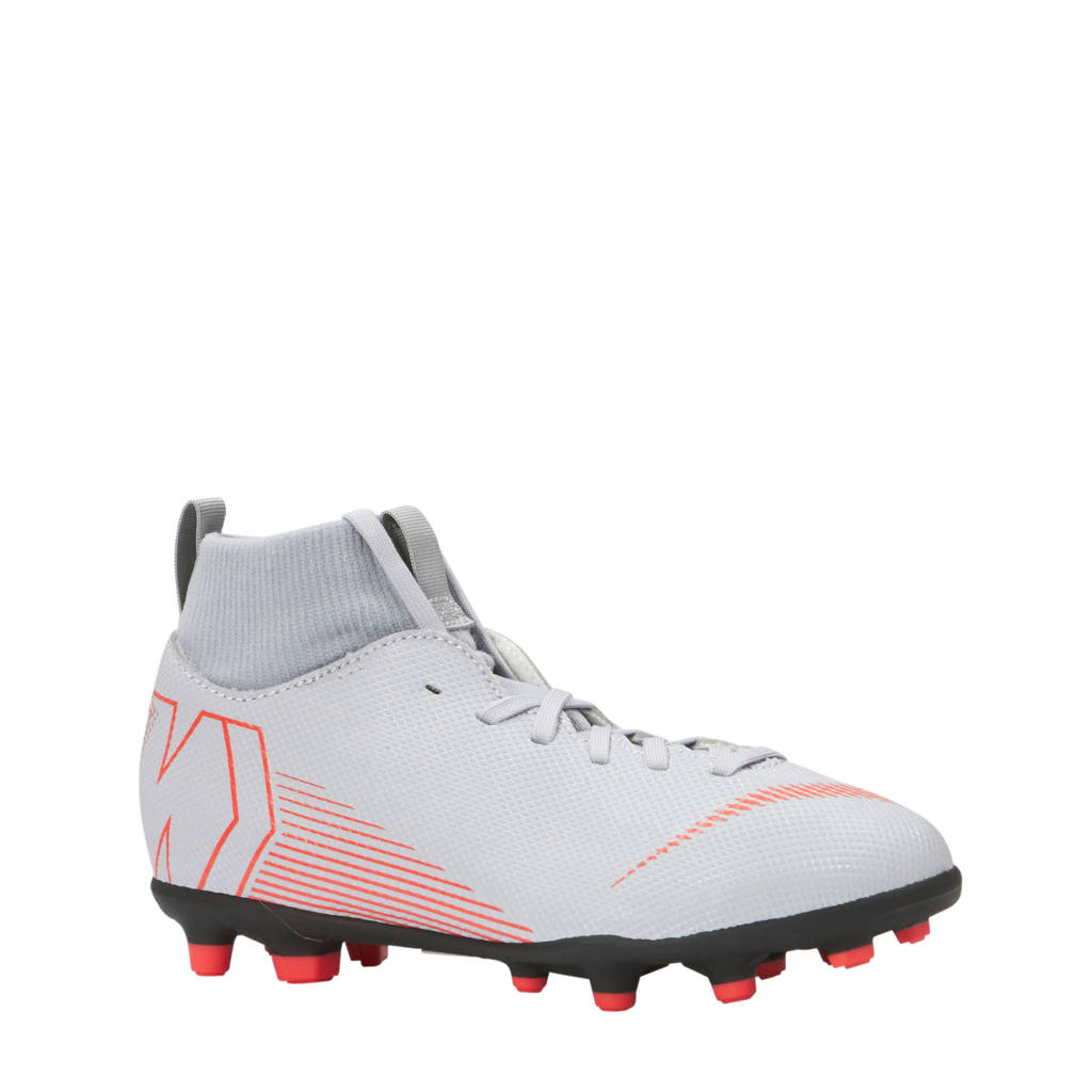 Nike JR Superfly 6 Club FG/MG voetbalschoenen grijs, Grijs