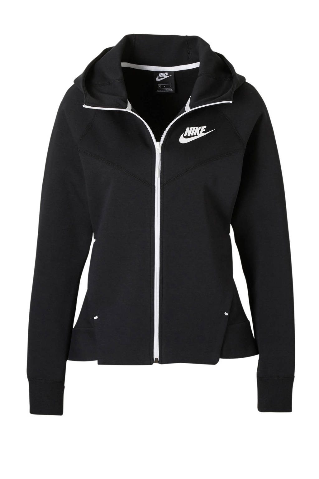 Nike sweatvest zwart, Zwart/wit