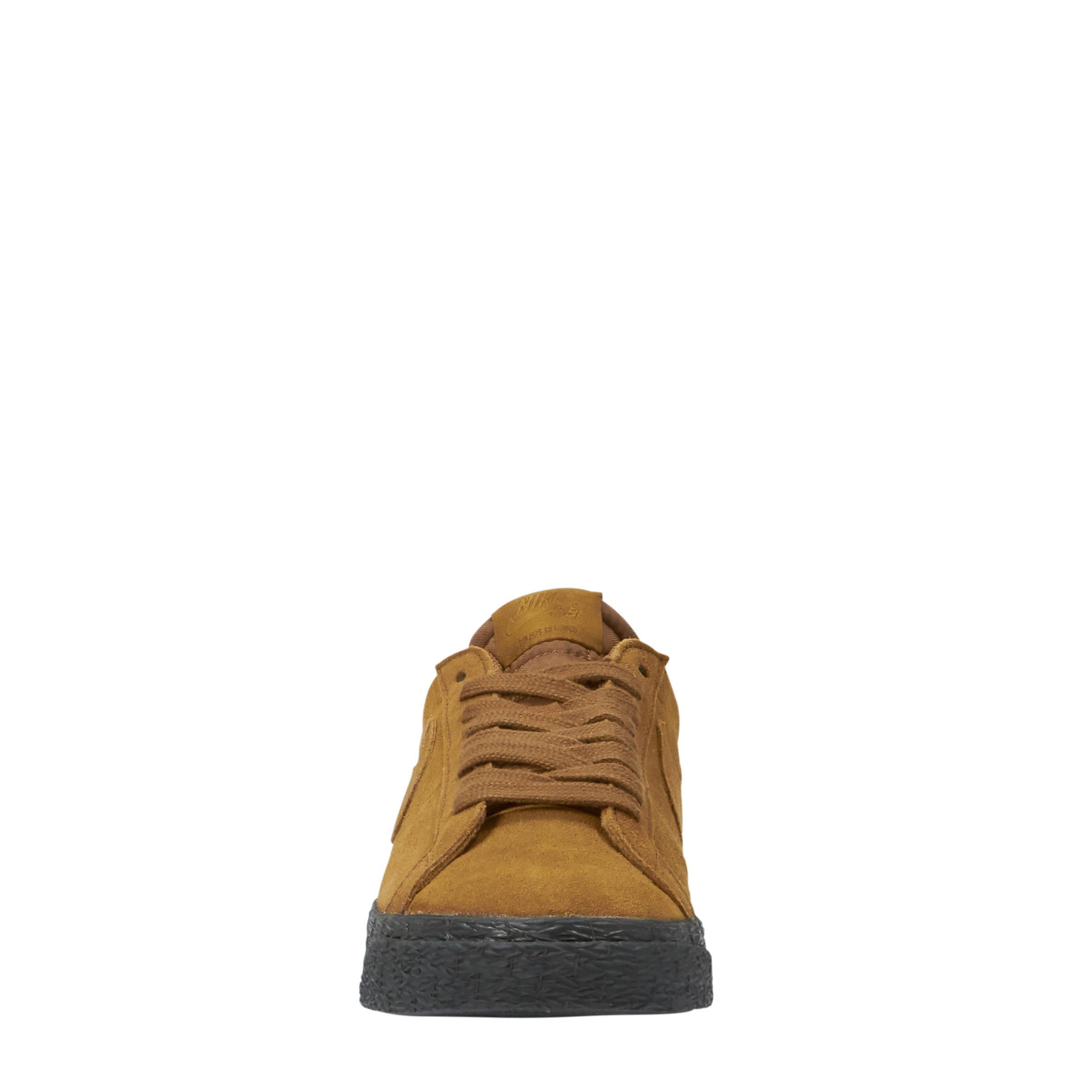 SB Zoom Blazer Low suède sneakers bruin