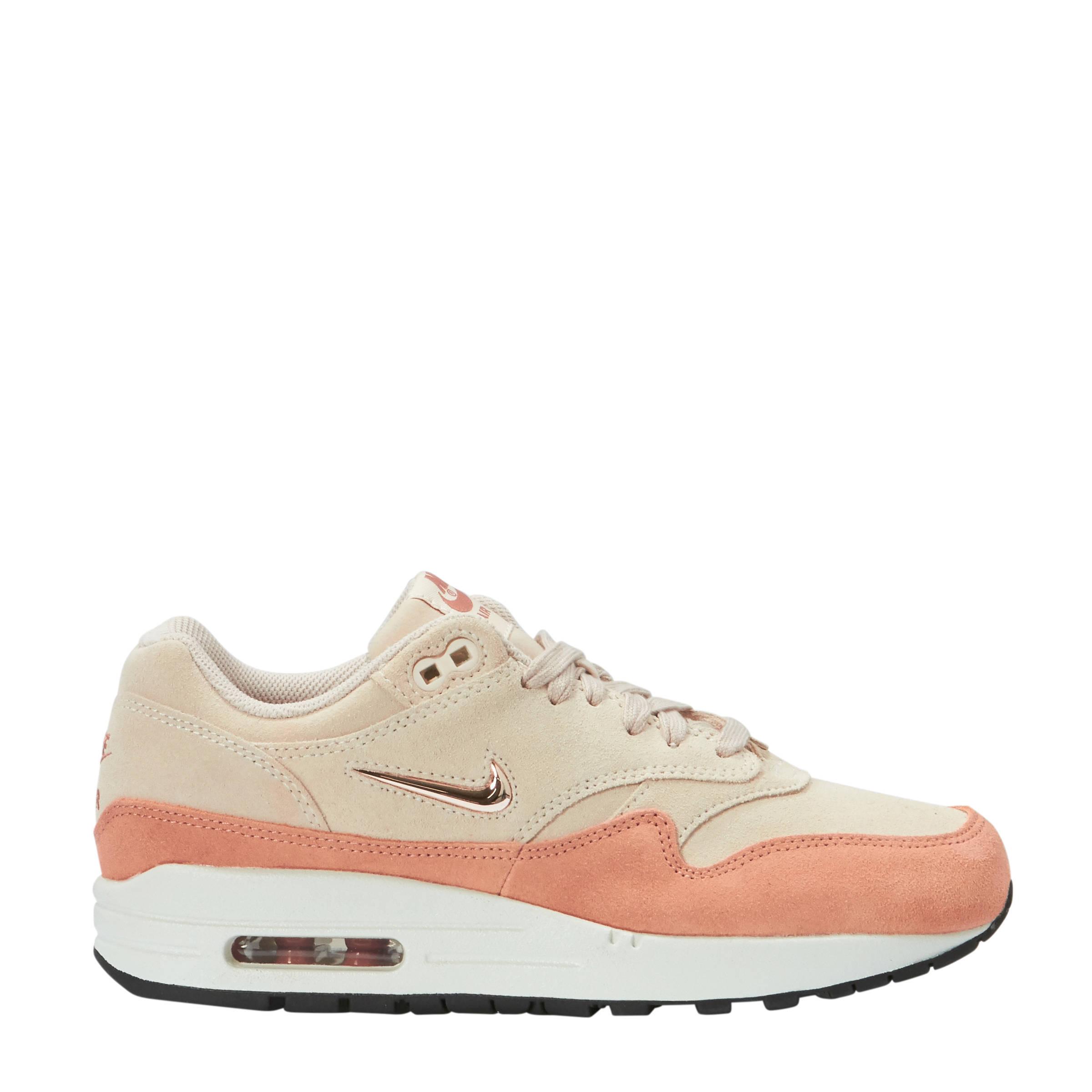 Nike Air Max 1 Premium sneaker van suède • Oudroze • de