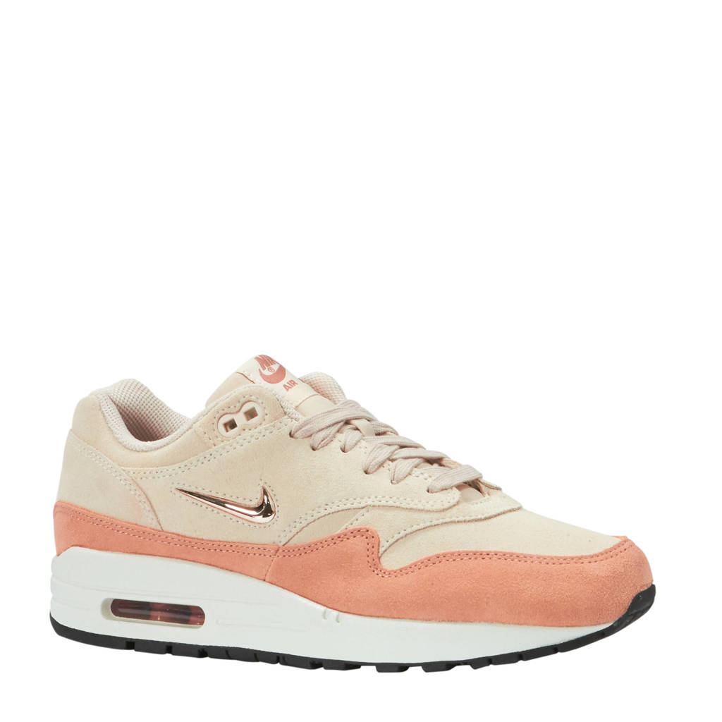 Nike  Air Max 1 Premium sneakers beige/oudroze, Beige/oudroze