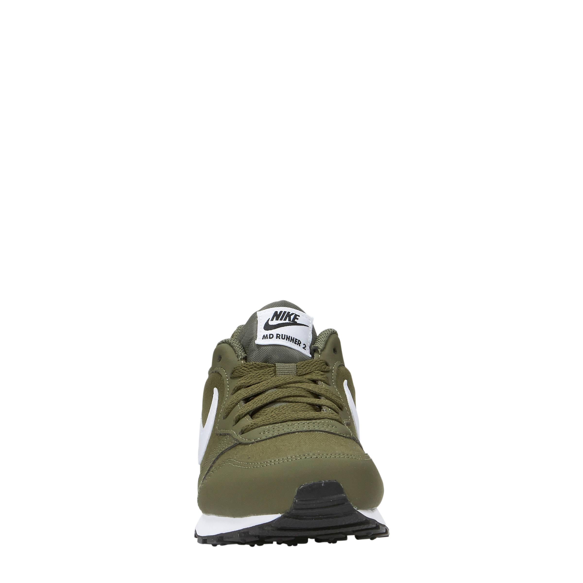 Nike MD Runner 2 (GS) sneakers olijfgroen | wehkamp