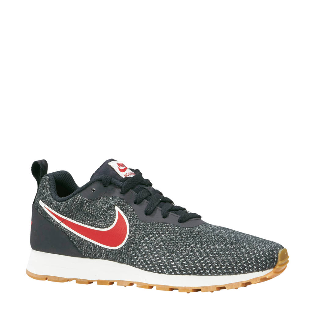 Nike  MD Runner 2 Eng Mesh sneakers antraciet, Antraciet/rood