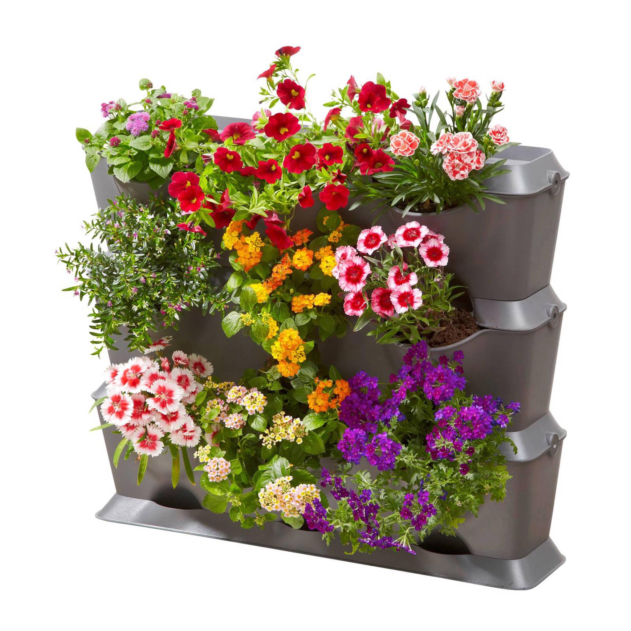 gardena verticale plantenbak recht grijs