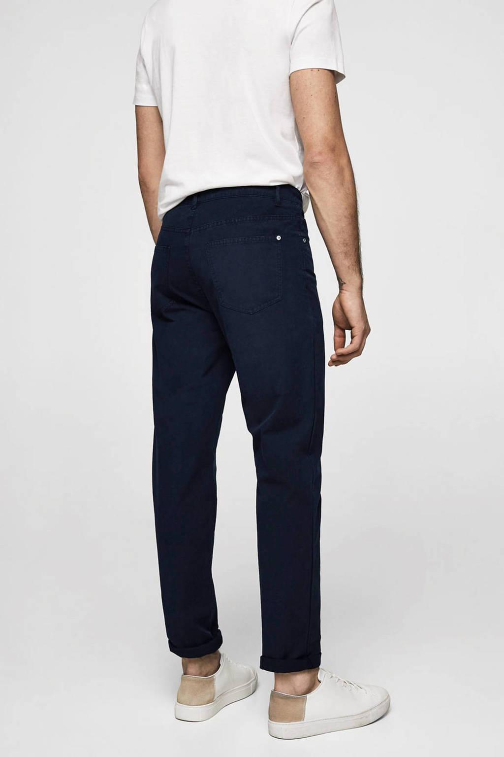 Beste Mango Man slim fit broek met hoge taille marineblauw   wehkamp TZ-27