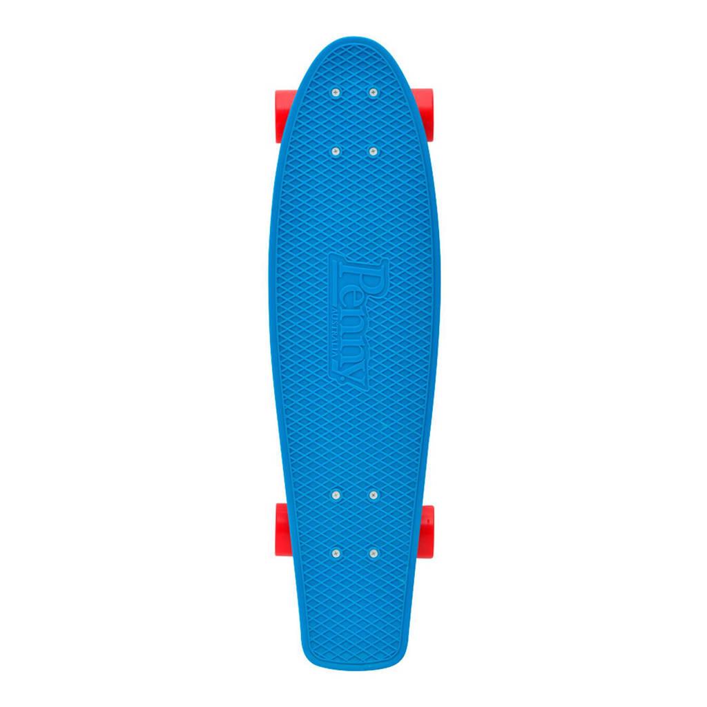 """Penny Blue 22"""" penny board, Blauw/rood"""