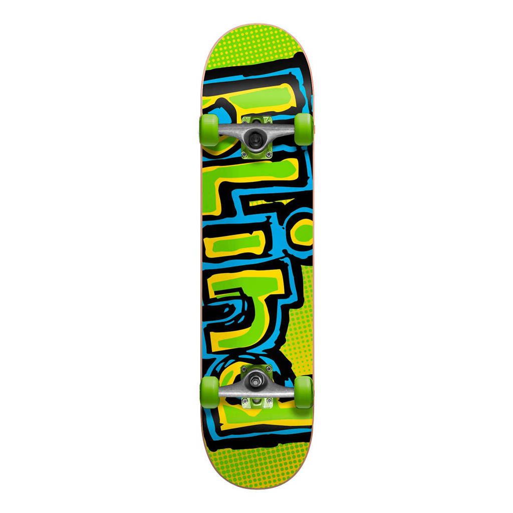 Blind Logo Fade skateboard, Groen/blauw