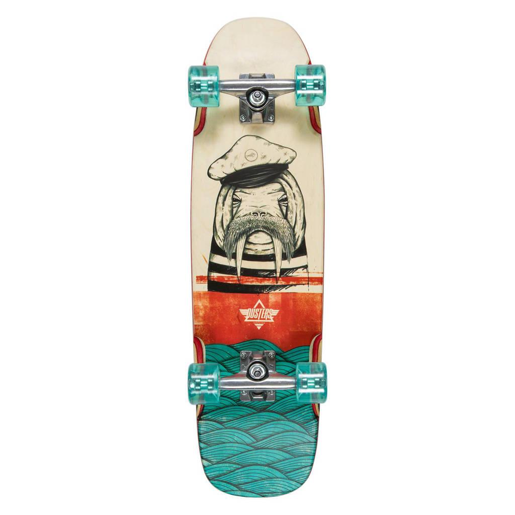 Dusters Morsa cruiser longboard, Rood/blauw