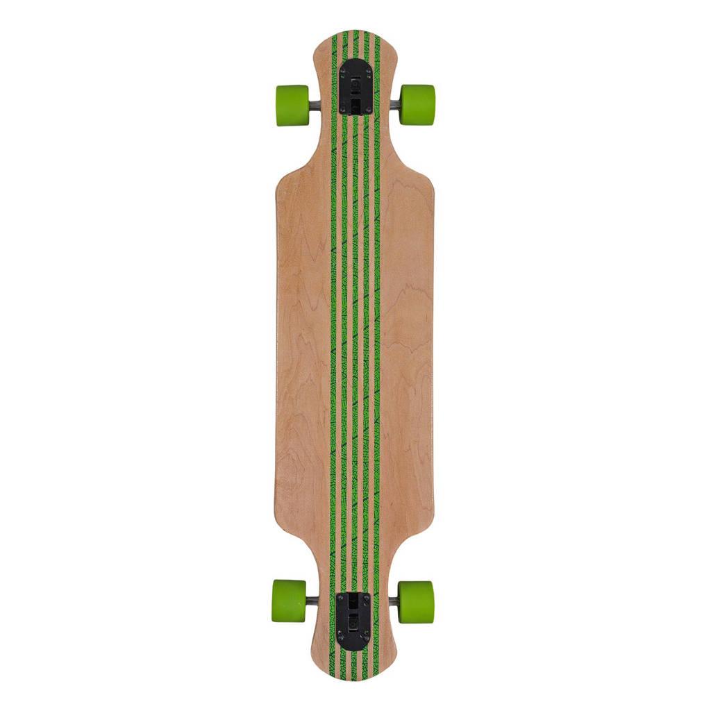 Saterno longboard Red Leaf licht, Bruin/groen