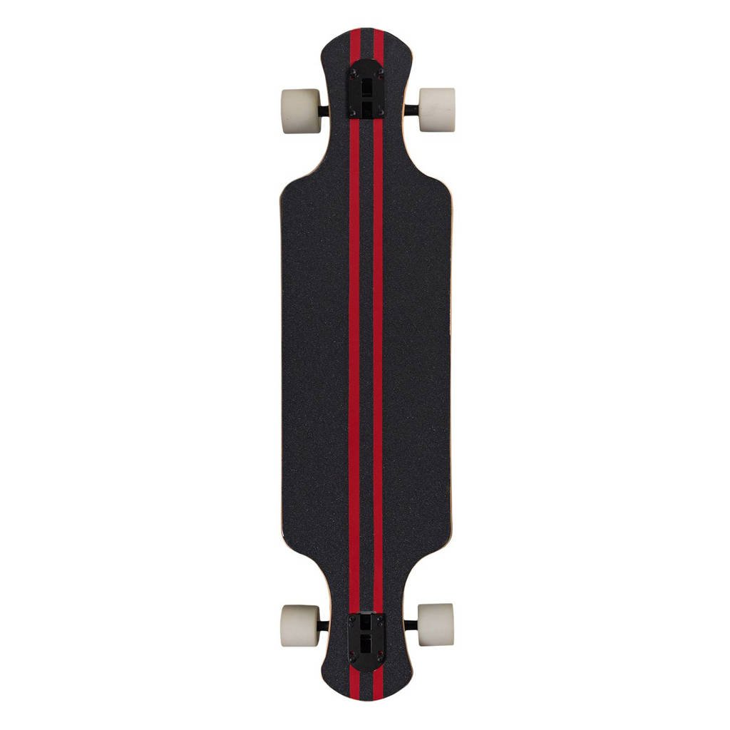 Saterno longboard Forest Leaf donker, Donkerbruin/rood