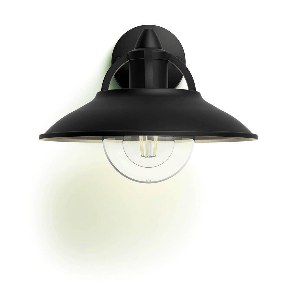 Philips myGarden wandlamp Cormorant, Zwart