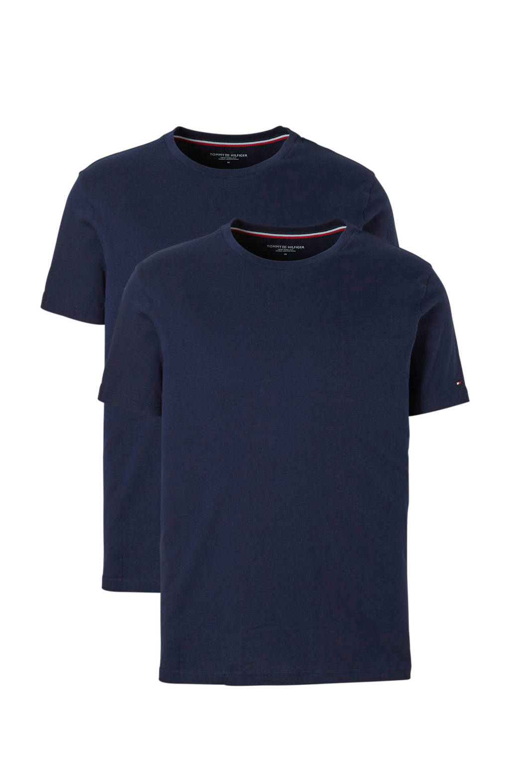 Tommy Hilfiger T-shirt (set van 2) zwart, Donker blauw
