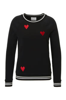 Roomy Stitched Hearts sweater